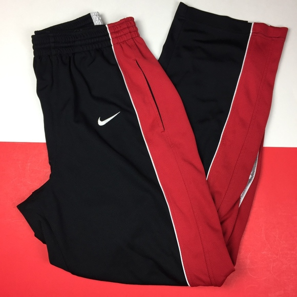 63c908e4c Nike Pants | Mens Sweat Size Large Red Black | Poshmark